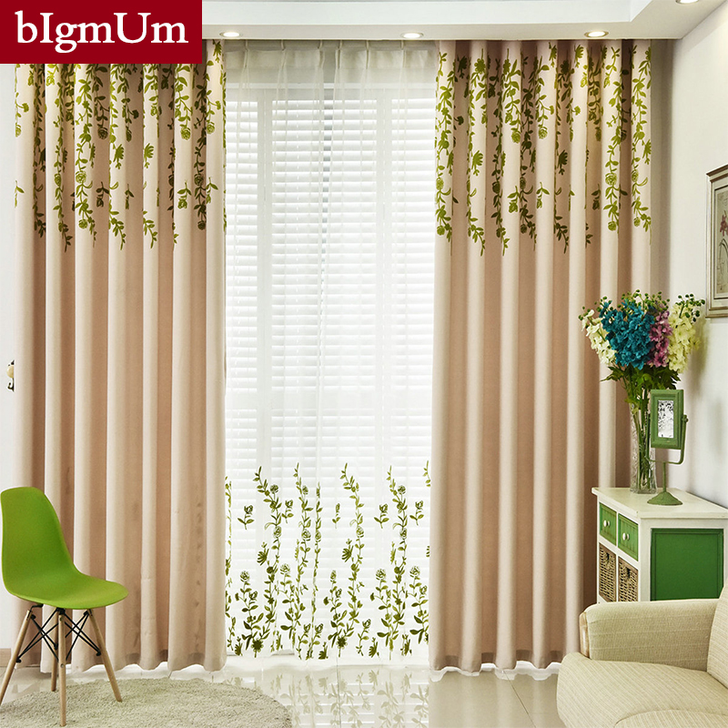 Window Curtains For Living Room Bedroom Blackout Windows Drapes Of Eu Pastoral Modern