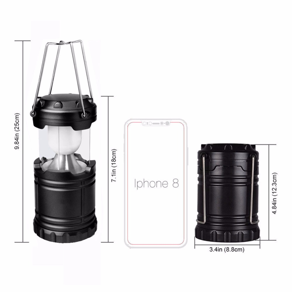 New Collapsible LED Camping Lanterns Flashlights Emergency Tent Light For Backpacking Hiking Fishing Outdoor Portable Lighting