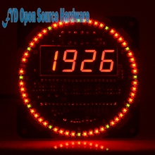 DS1302 clock 18b20 temperature display alarm clock function Rotating LED electronic clock