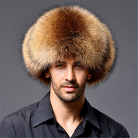 2018 Winter Russian Dad Hats Faux Fox Fur Bomber Hat for Men and Women Keep Warm ar1