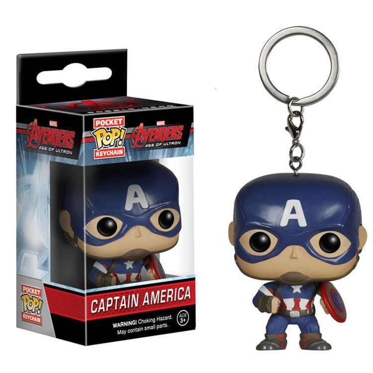 Funko POP Keychain Marvel Venom Thanos Die Avengers Zeichen Wonder Frau Aquaman Batman Action Figure Sammeln Modell Spielzeug