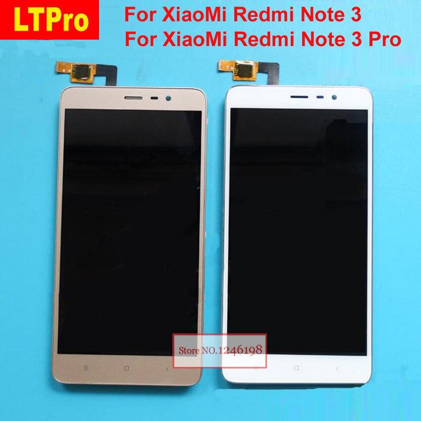 LTPro Lcd Panneau de L'écran Tactile Digitizer Assemblée avec Cadre Pour Xiaomi Redmi Note3 Hongmi Note 3 Note 3 Pro Téléphone Pièces