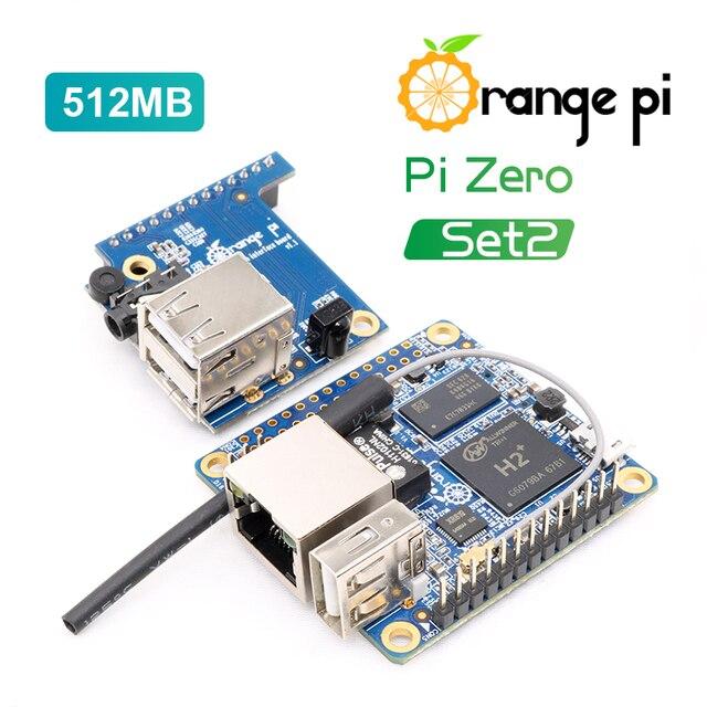 כתום Pi אפס סט 2: כתום Pi אפס 512MB + לוח התרחבות מעבר פטל Pi