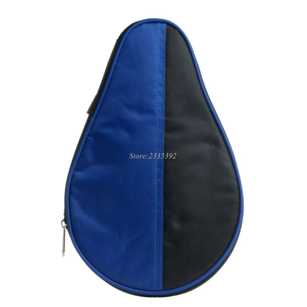 New Portable Waterproof Table Tennis Racket Case Bag For 2 Ping Pong Paddle Bat