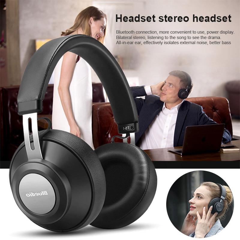 Bluedio Bluetooh Smart Headset Support Music Calling Battery Display Bluetooth5 0 Earphone XR649