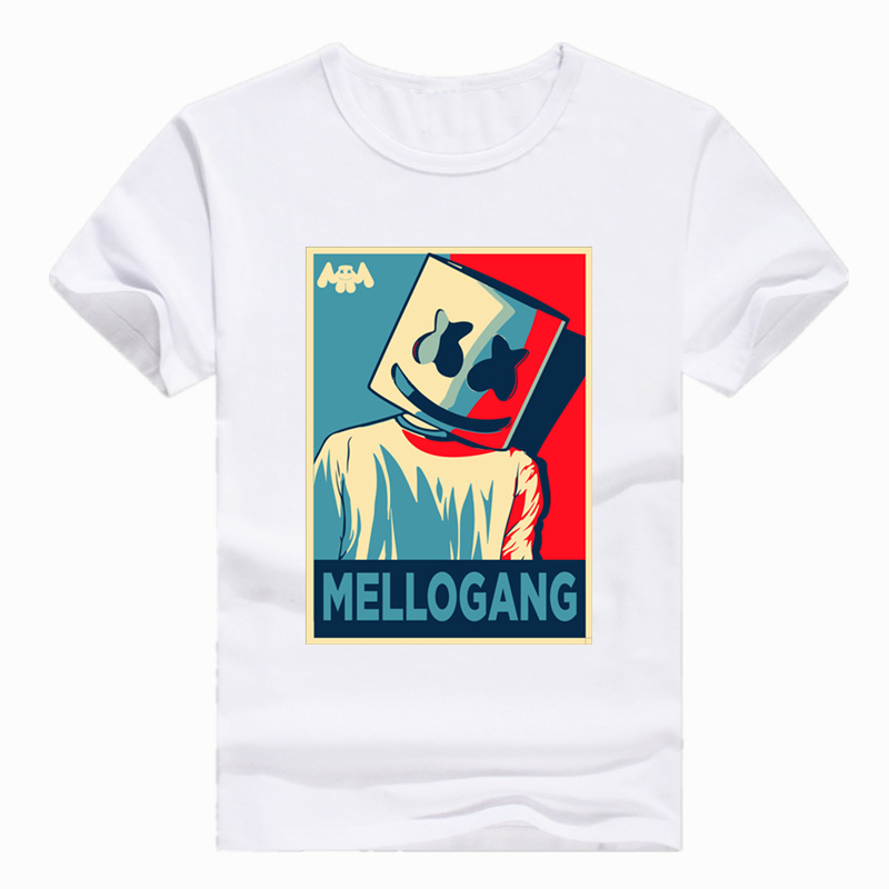 Asian Size Print DJ Marshmello Fashion   T  -  shirt   Short sleeve Summer Casual O-Neck   T     shirt   For Men And Women HCP4104