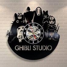 CD Vinyl Record Wall Clock VintageTheme Black Art Watch Duvar Saati Home Decorative Reloj Madera