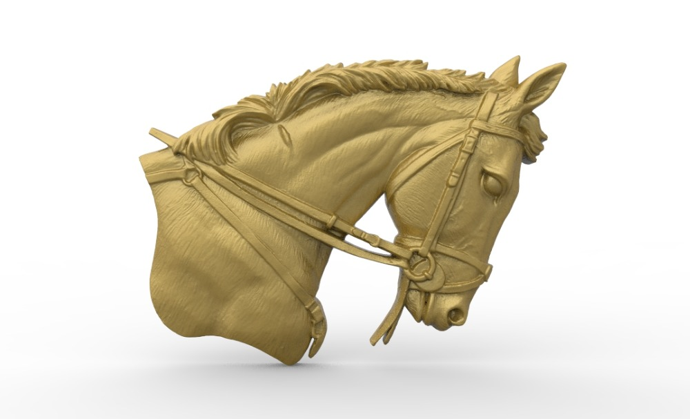 horse head 3D model relief STL model for CNC Router carving engraving artcam type3 aspire M361