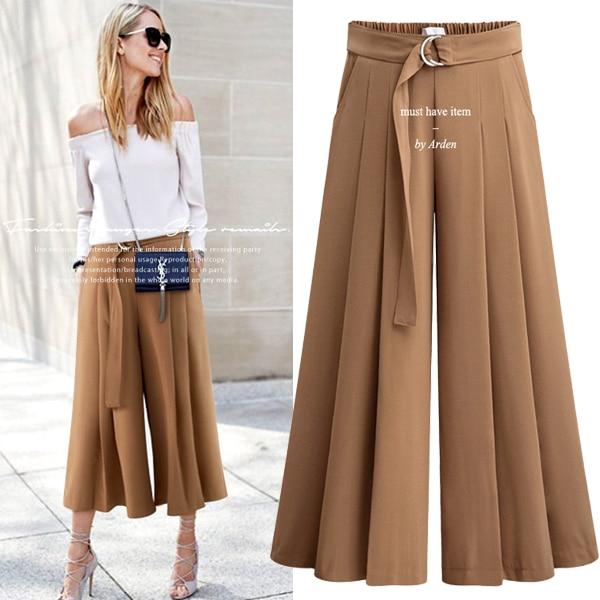 Female Pant 2018 New Fashion Fall Pants High Elastic Waist -9473
