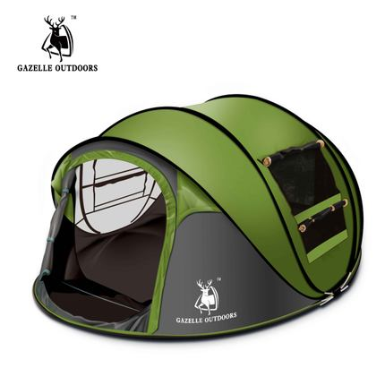 ФОТО Emblem antelope outdoor 3-4persons automatic speed open throwing pop up windproof waterproof beach camping tent large space