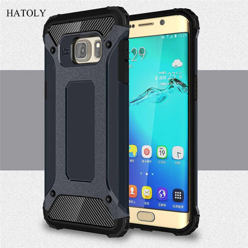 HATOLY pour Coque Samsung Galaxy S6 bord Plus étui armure lourde couverture rigide étui en Silicone pour Samsung Galaxy S6 Edge Plus G9280