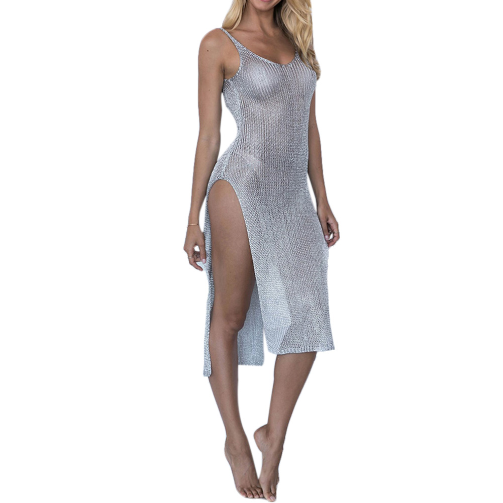 Women Sexy Beach Cover-up Swimsuit Covers up Bathing Suit Summer Beach Wear knitting Mesh Beach Dress TunicWomen Sexy Beach Cover-up Swimsuit Covers up Bathing Suit Summer Beach Wear knitting Mesh Beach Dress Tunic
