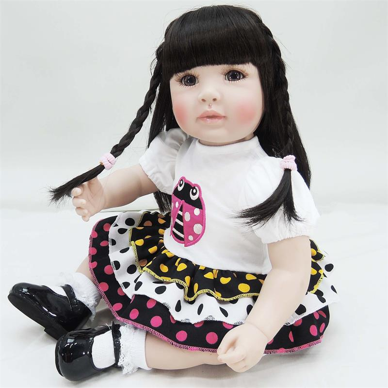 50cm Silicone Reborn Baby Doll Toys Like Real 20inch Vinyl Princess Toddler Girl Babies  ...