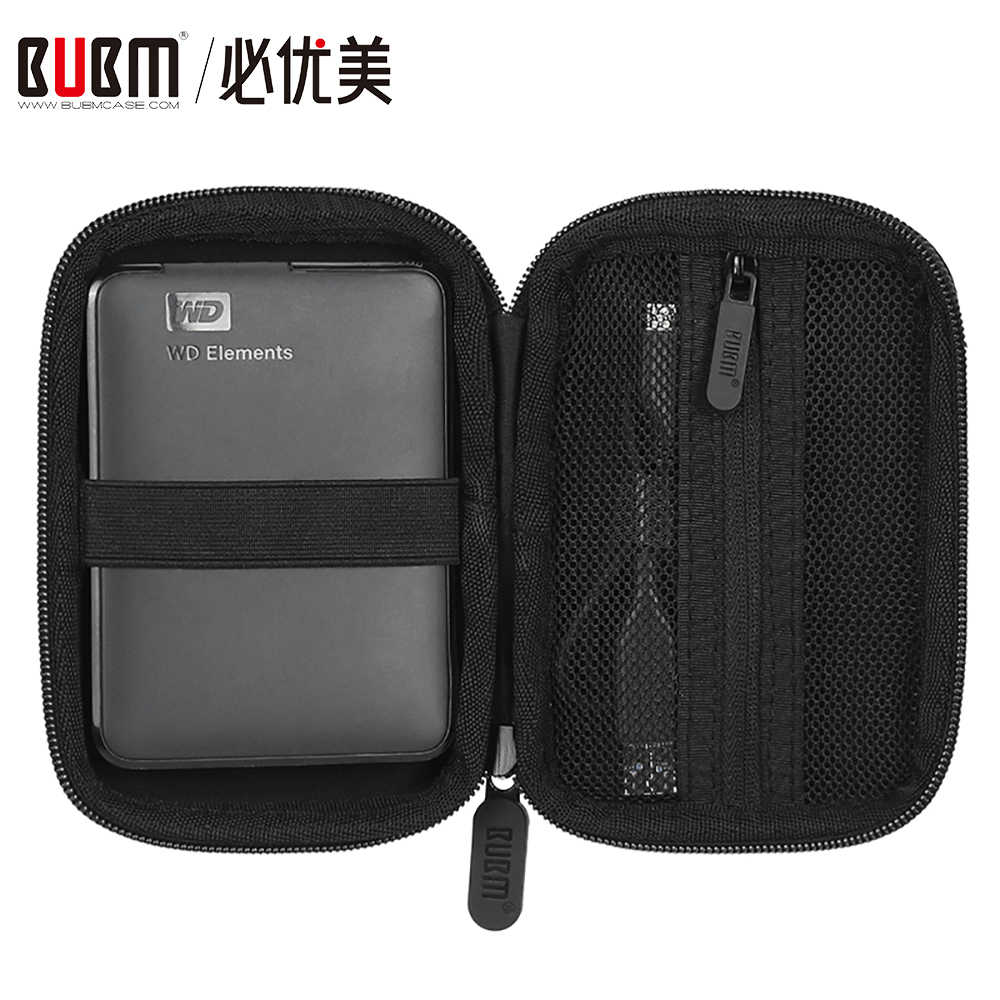 "BUBM Anti-shock Carry Travel Protective Storage Case Bag for 2.5"" Inch Portable External Hard Drive HDD USB Cable Flash Drive"