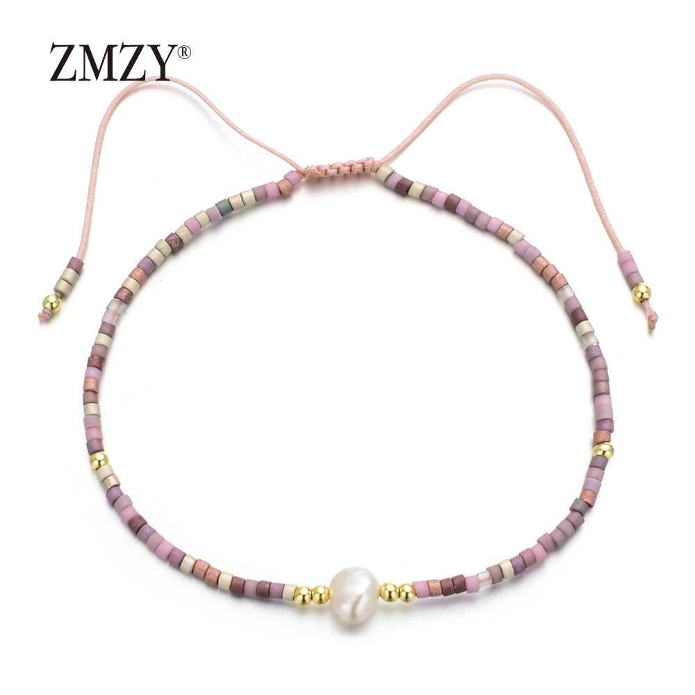ZMZY Handmade Adjustable Natural Freshwater Pearl Bracelets for Women Friends Rope Charm Bracelet Simple Jewelry Wholesale