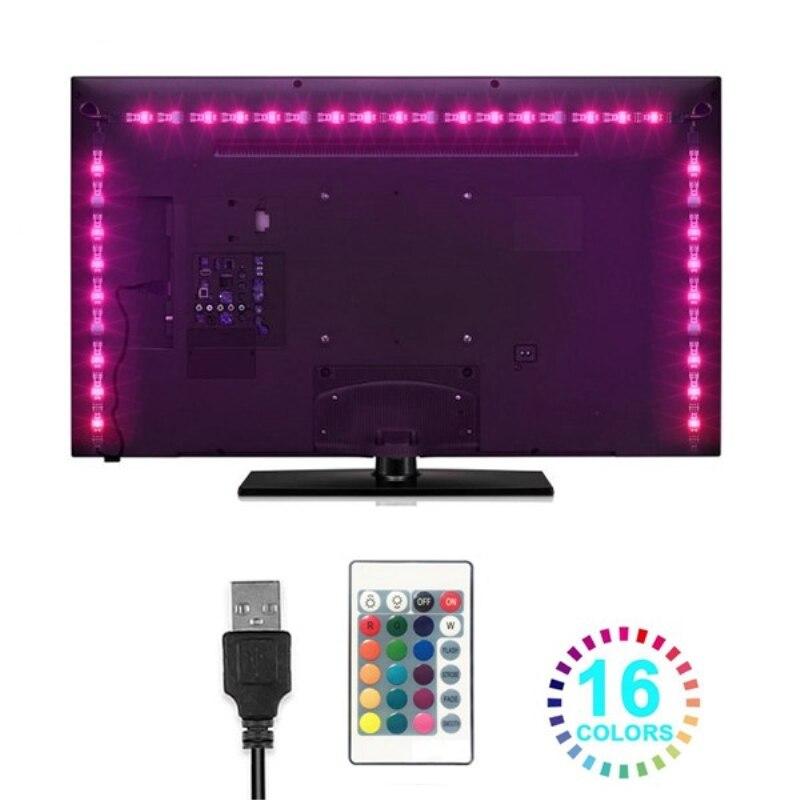 1 Set Led Strip Light Flexible 5050 Rgb Usb Led Tv