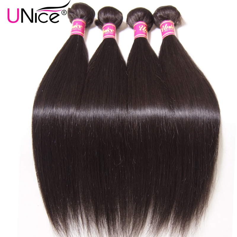 UNICE HAIR Peruvian Straight Hair Bundles Natural Color 100% Human Hair Extensions 8-30inch Remy Hair Weaving 1 Piece