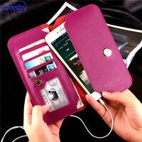 Retro Caja Del Teléfono de Cuero Para Samsung Galaxy NOTE 3 4 5/S6 S7 edge Para iPhone X 8 7 6 5S 4 Plus Tarjeta Monedero Bolsa de La Cubierta Coque