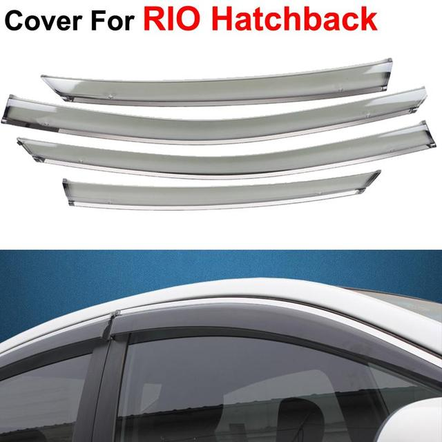 4pcs/lot Window Visors For KIA K2 RIO Hatchback 2012 2013 2014 Sun Rain Shield Stickers Covers Car Styling Awnings Shelters