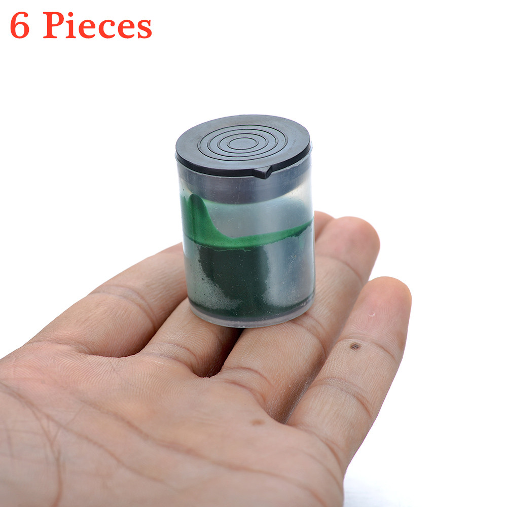 6Pcs/lot W3.5 3000# Grit Green Abrasive Pastes Polishing Grinding Lapping Paste For Polishing Wheels Electric Grinder