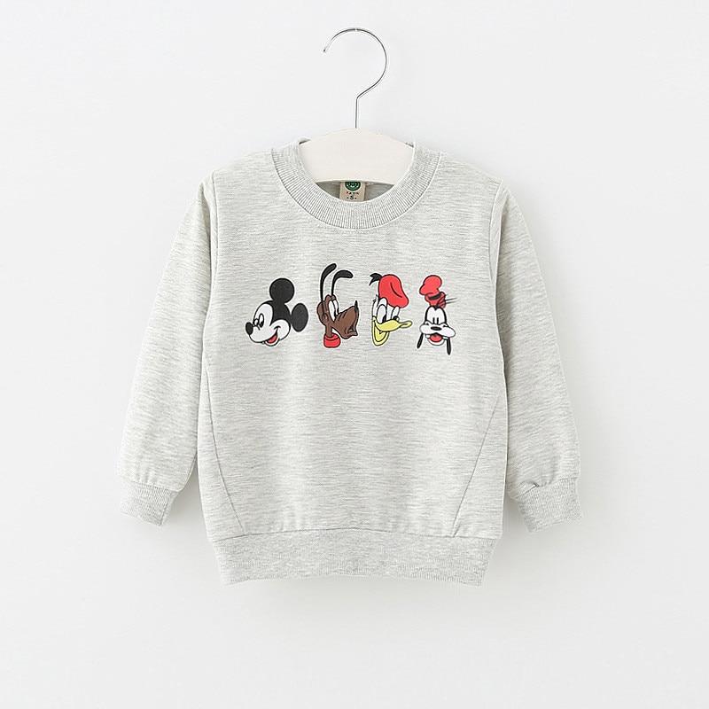 Summer autumn baby cartoon printing cotton long-sleeved fashion cartoon sweater 0-3 years cartoon animal candy color shirt 0-2 Y
