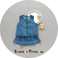 Summer Princess Baby Girl Clothing 2017 New Style High Quality Cotton Sleeveless Cowboy Top Jean Dresses