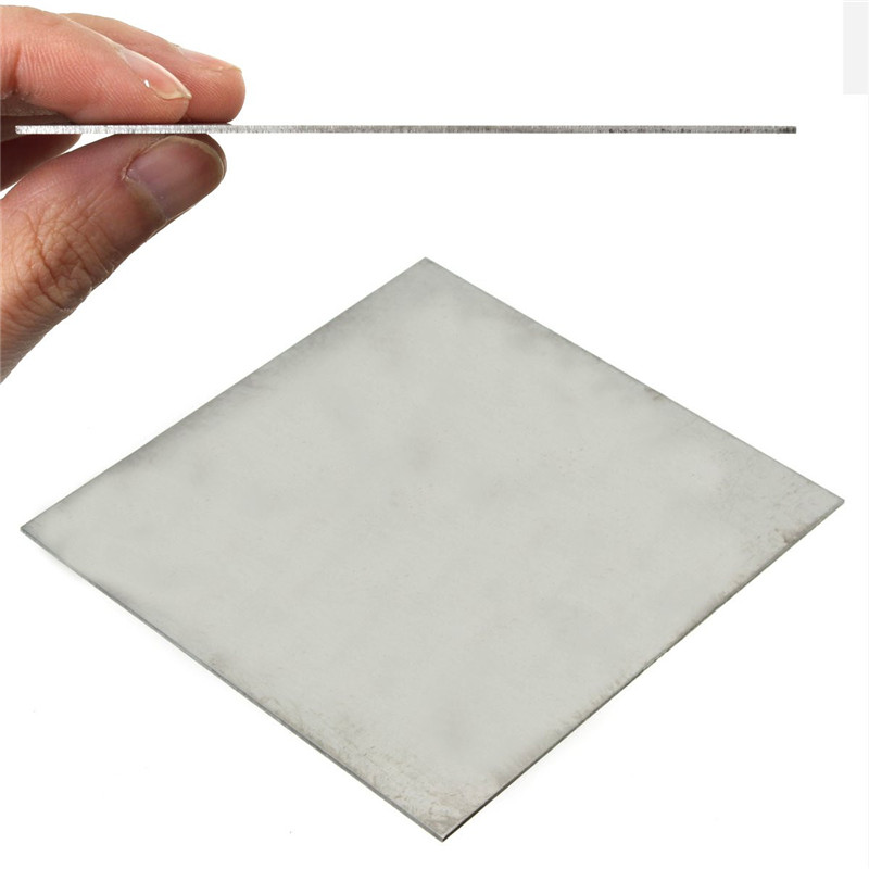 1mm x 100mm x 100mm Titanium Metal Plate Titan Platte Sheet Gr.5 Gr5 Grade 5 Ti Temperature 400-600 Degree Corrosion Resistance size length width thickness 100mm 100mm 3mm wear resistant high temperature resistance peek plate sheet