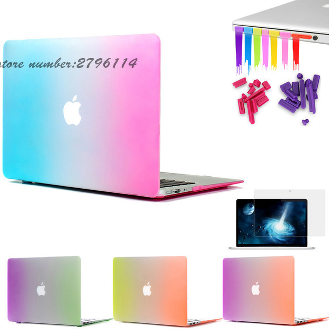 Matte Rainbow Hard Protector Case for Macbook air 11 13 inch Cover For Macbook Pro 13 15 inch for Macbook Pro Retina 12 13 15