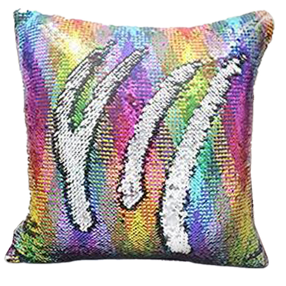 ISHOWTIENDA Multicolor Glitter Sequins Throw Pillow Case Cafe Home Decor Cushion Covers Pillowcase 45x45cm