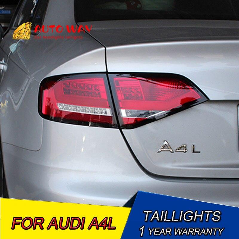 車のスタイリングテールライトアウディ A4 A4L B8 テールライト 2008 2012 A4L B8 テールライト LED テールトランクランプカバー  グループ上の 自動車 &バイク からの カーライトの組み立て の中 1