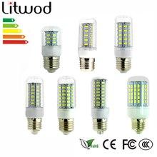 z30 LED Bulb Base E27 E14 GU10 G9 5 W -12 W SMD 5730 Corn Lamp AC 220V LED Candle Light Candlestick Spotlight