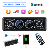 Car Radio 1 Din Autoradio MP3 Multimedia Player Bluetooth Car Audio AUX/TF/USB FM Receiver Auto Radio Phone Charging Car stereo