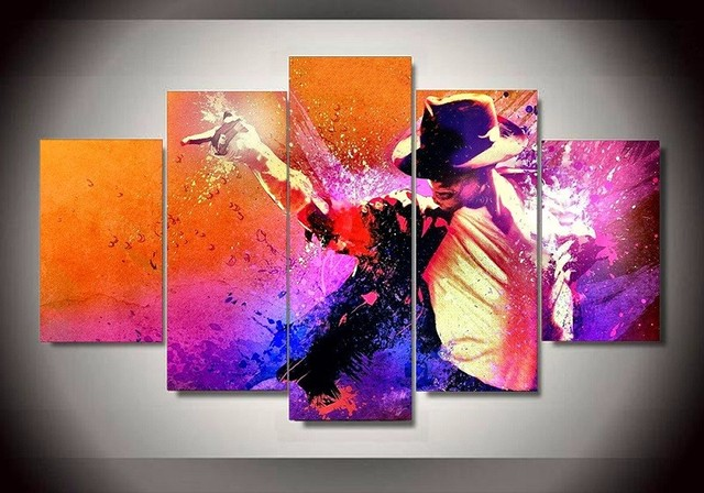 5 Panel Grammy Lifetime Achievement Award Michael Jackson Home