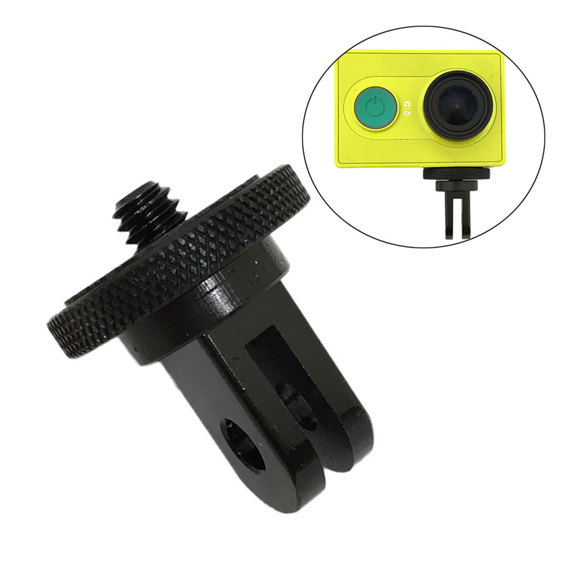 <font><b>Metal</b></font> <font><b>1/4</b></font> inch Mini Tripod <font><b>Adapter</b></font> for <font><b>GoPro</b></font> Hero 6 5 3+ 4 Session SJCAM SJ4000 Mount Xiami Yi 4K Lite Eken Action Accessories image