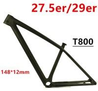 MCELO T800 EPS интегрированный литье mtb Рама 27.5er 29er mtb углерода кадр из углеродного горный велосипед рама 148*12 мм