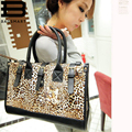 Moda da Cópia do Leopardo Das Mulheres Grandes Mulheres Saco Grande Menina Bolsa Bolsas Femininas Sacos de Ombro Saco de Mão Das Senhoras