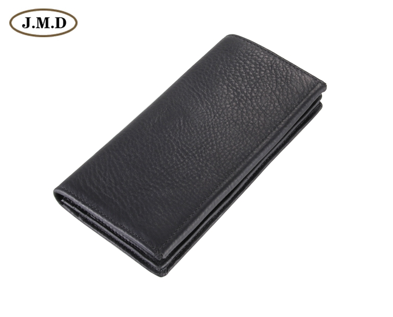 8061A  2014 October New Arrival Fashion Black Genuine Leather Mens Wallet purse
