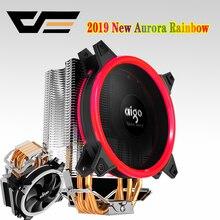 DarkFlash aigo E3 PC CPU ventilateur de refroidissement refroidisseur 4 caloducs ventilateur refroidisseur de processeur radiateur en aluminium radiateur LGA775/1155/1156/1366/AM3/AM4