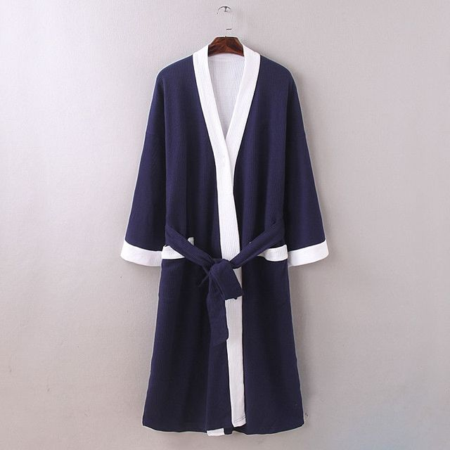 New 2016 men waffle cotton bathrobes men bathroom spa robe male plus size  pajamas Traditional Yukata cc721cd46