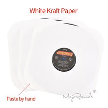 20 High Quality Heavyweight ACID FREE White Kraft Paper Inner Sleeves For 12 LP Record Vinyl With Hole and Rounded Corners