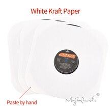 Fundas interiores de papel Kraft blanco, sin ácidos, para Discos de vinilo LP de 12 con agujero y esquinas redondeadas, 20 unidades