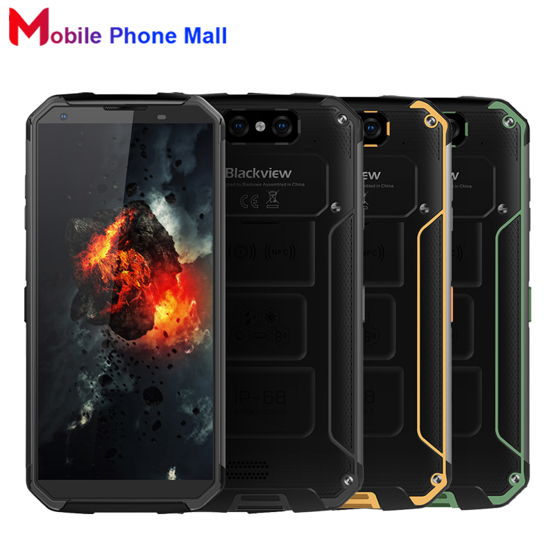 Blackview BV9500 <font><b>IP68</b></font> Waterproof <font><b>Cell</b></font> <font><b>Phone</b></font> 5.7&#8243; 4GB+64GB MT6763T Octa Core Android8.1 10000mAh Wireless Charging NFC Smartphone