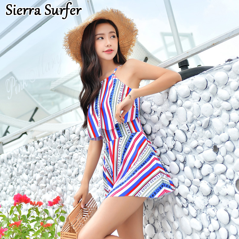 Bathing Suit Women Swimwear One Piece Sports Swimsuit Female Swim Large Size Suits Bath 2018 New Sexy Underwire Tora Print one piece swimsuits trikinis high cut thong swimsuit sexy strappy monokini swim suits high quality denim women s sports swimwear