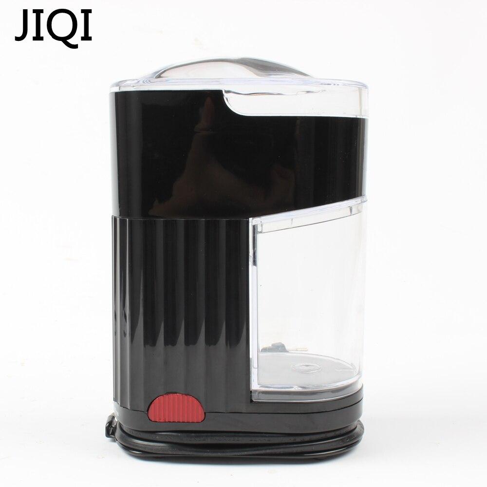 JIQI 110V/220V Home Coffee Grinding Machine Electric Portable Burr Mill Espresso Coffee Bean Grinder Coffee Powder Maker 120W