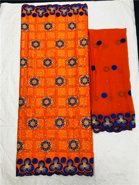 Fashionable royal blue embroidery 5y African cotton lace fabric matching 2y Swiss voile lace fabric for dress OCV3(5+2y)Fashionable royal blue embroidery 5y African cotton lace fabric matching 2y Swiss voile lace fabric for dress OCV3(5+2y)