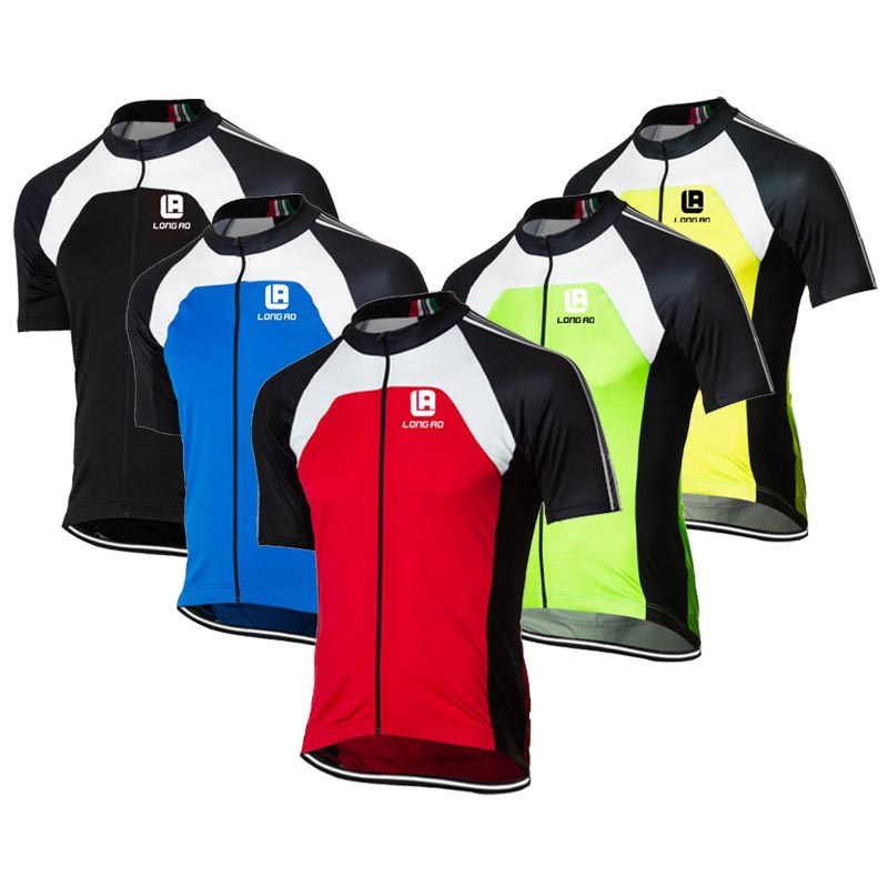 LONGAO Quick Dry Cycling Jersey Outdoor Sports Bicicleta Jacket Bicycle Bike classic Short Sleeve Shirt