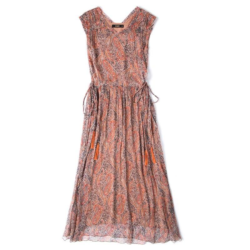 Longues Mince Tcyeek Imprimer Picture Manches Soie Sans Nuit Dames D'été 2019 Robes Vêtements Lwl1496 Femme Bureau Élégant Partie Robe As Prxn0w5rqH