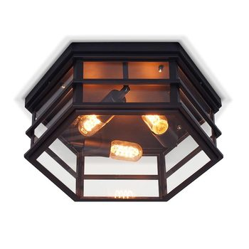 American Retro Glass Ceiling Lights Creative Dining Room Ceiling Lamps Industrial Wind Tunnel Wrought Iron Glass Light Fixtures