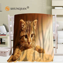 Custom Animals Cute Cats Blanket Manta Falafel Blanket Sofa/Bed/Plane Travel Plaids Bedding Set 58x80inch 50X60inch 40X50inch