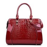 2018 Brand Woman Handbags Crocodile Pattern PU Leather Ladies Shoulder Bags Fashion Temperament Luxury Bags For
